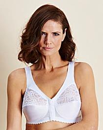 Glamorise Front Fastening White Bra