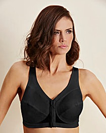 Glamorise Back Support Black Bra