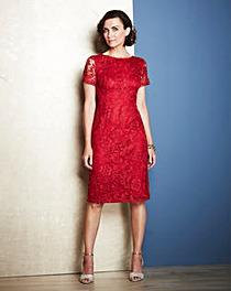 Joanna Hope Short-Sleeved Lace Dress