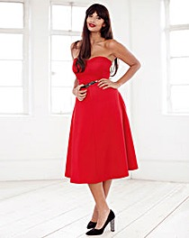Jameela Jamil Strapless Scuba Dress