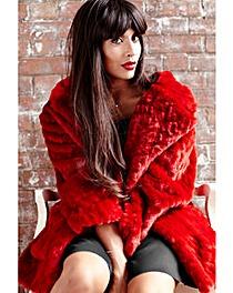 Jameela Jamil Faux Fur Jacket