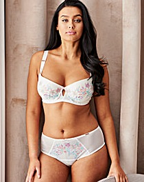 Figleaves Curve Floral Balcony Bra Ivory