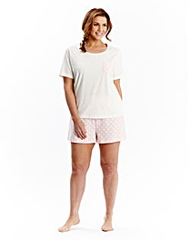 Pretty Secrets Pack of 2 Shortie Pyjamas
