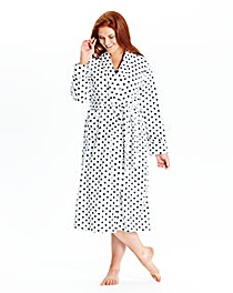 Pretty Secrets Microfleece Wrap Gown L50