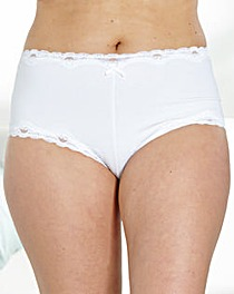 Naturally Close Cotton and Lace Shorts