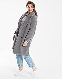 Glamorous Curve Teddy Fur Coat