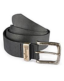 Wrangler Leather Black Metal Loop Belt