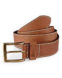 Wrangler Leather Stiched Edge Brown Belt