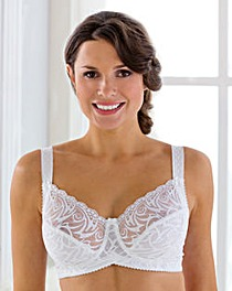 Miss Mary Full Cup Wired White Lace Bra