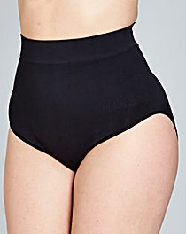 Hi Waist Medium Control Black Briefs