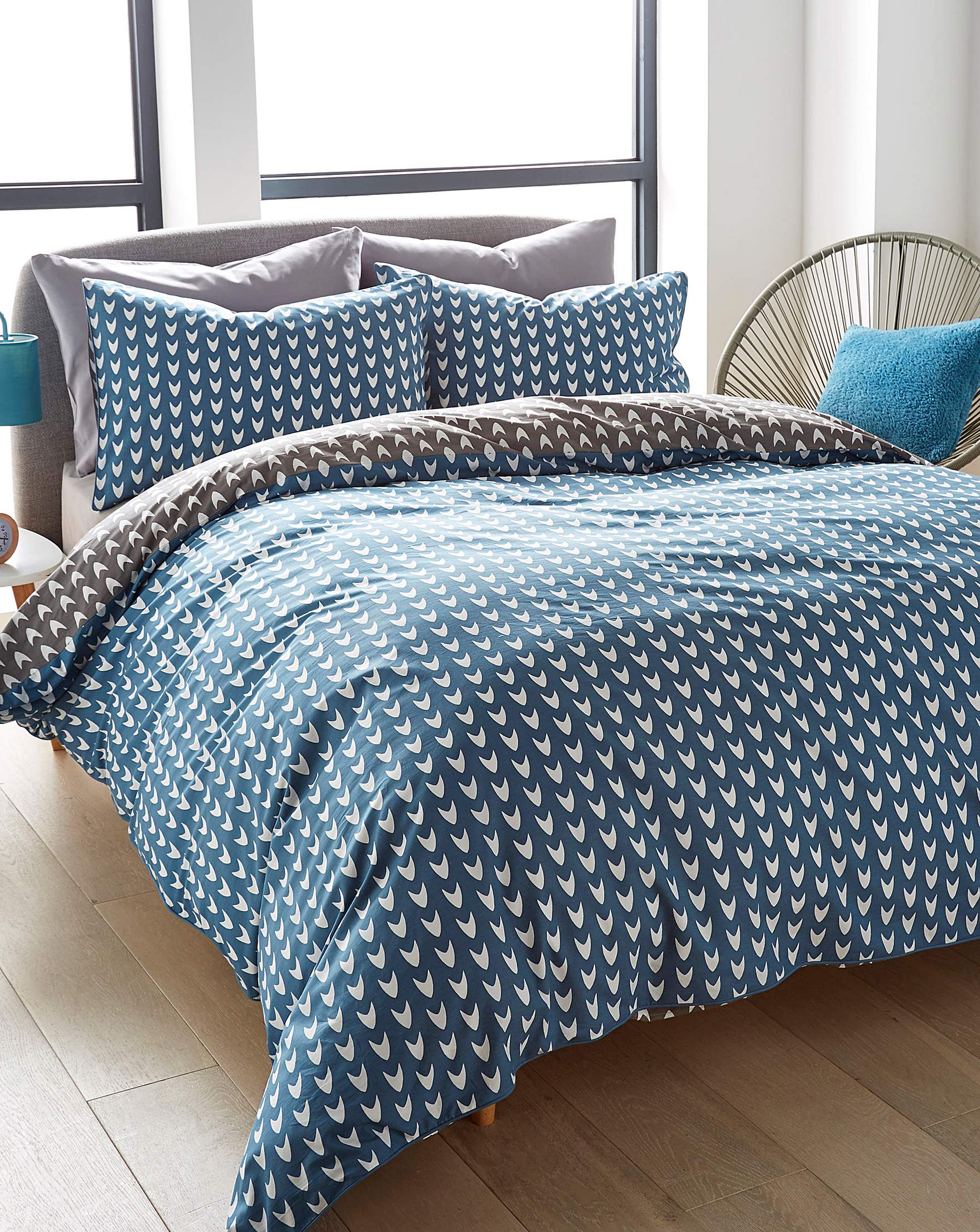appletree blue dari duvet set