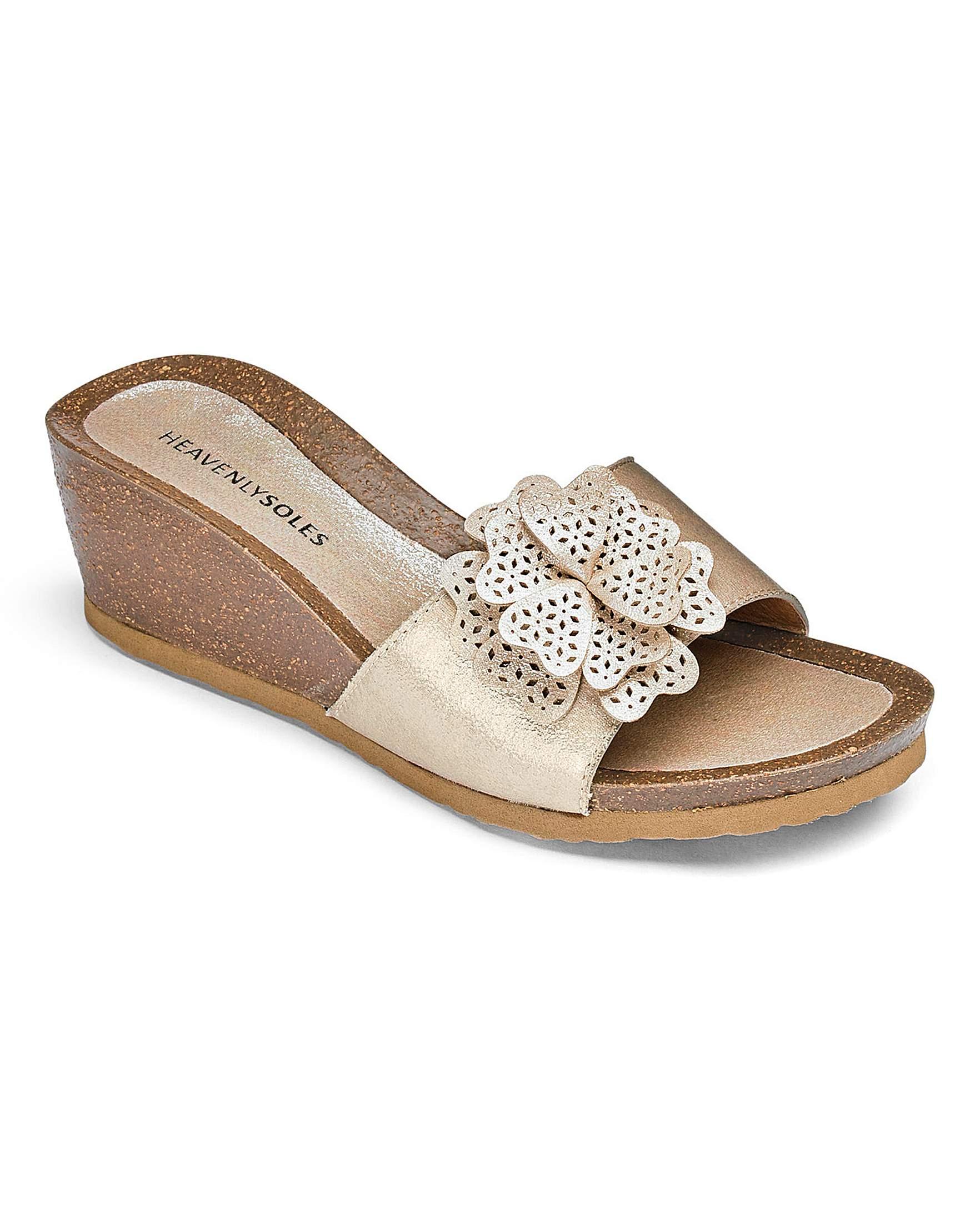 Wide fit sandals shoes uk - Heavenly Soles Wedge Sandals E Fit