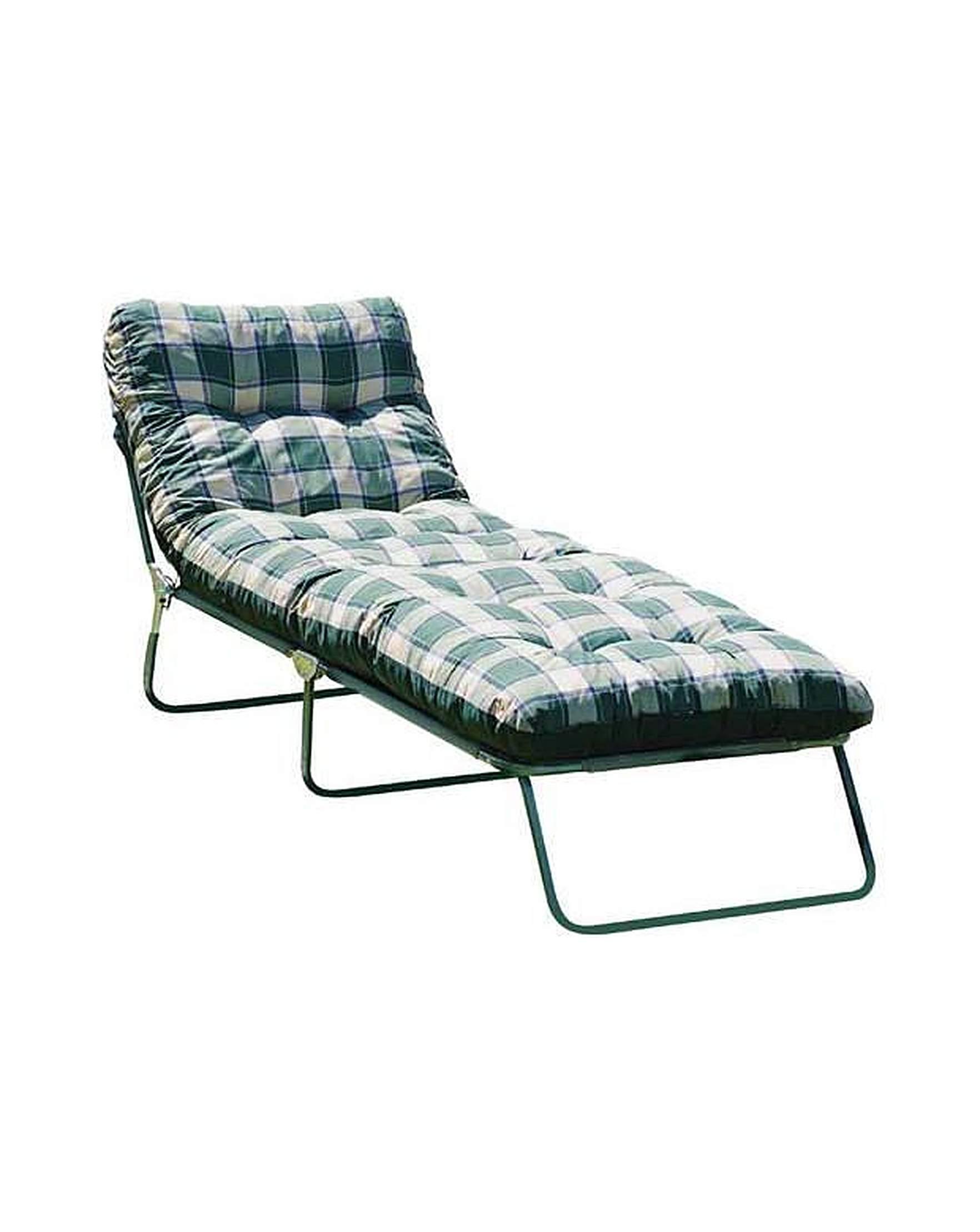 multi position sun lounger with cushion j d williams