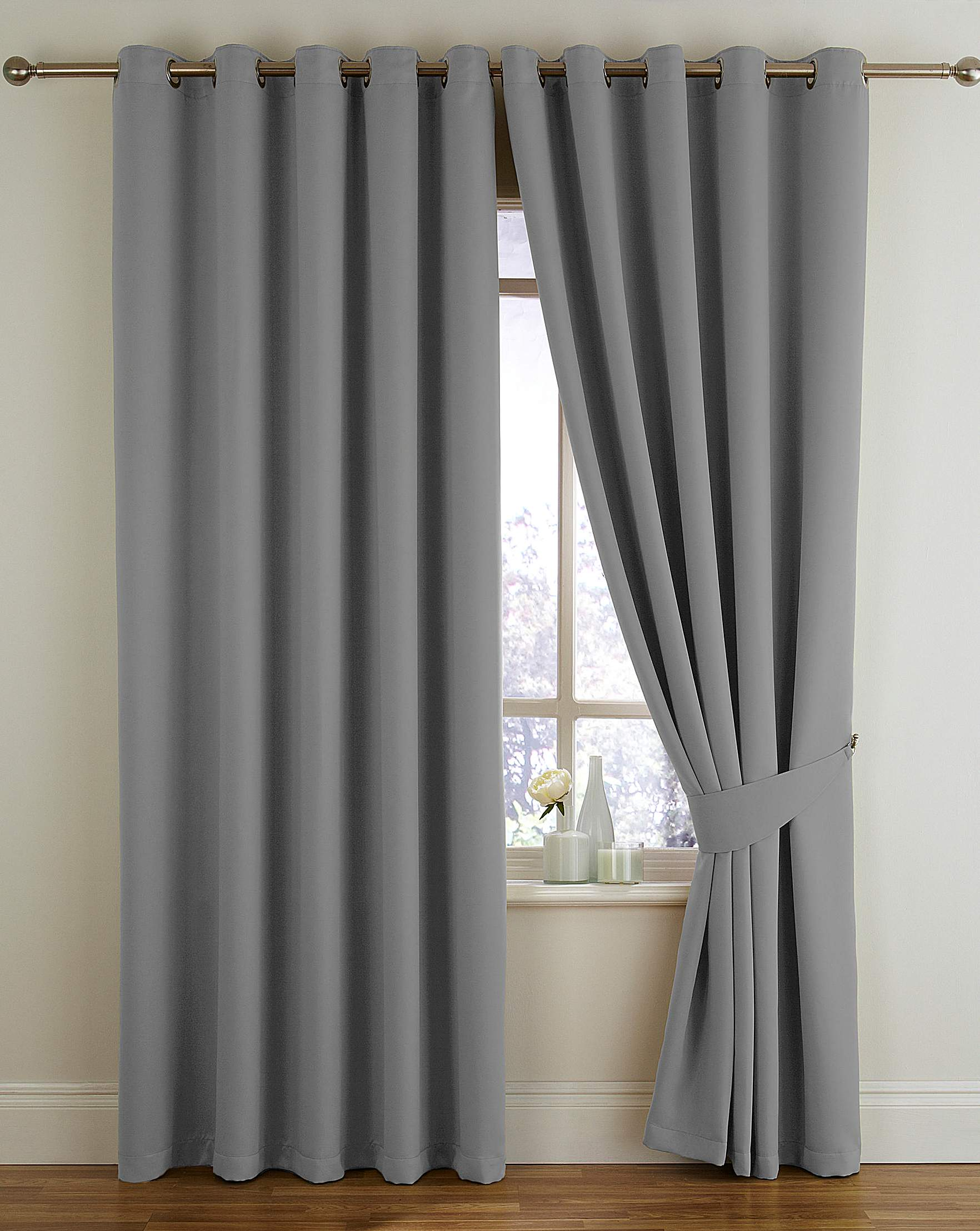 Green bedroom curtains - Woven Blackout Eyelet Curtains