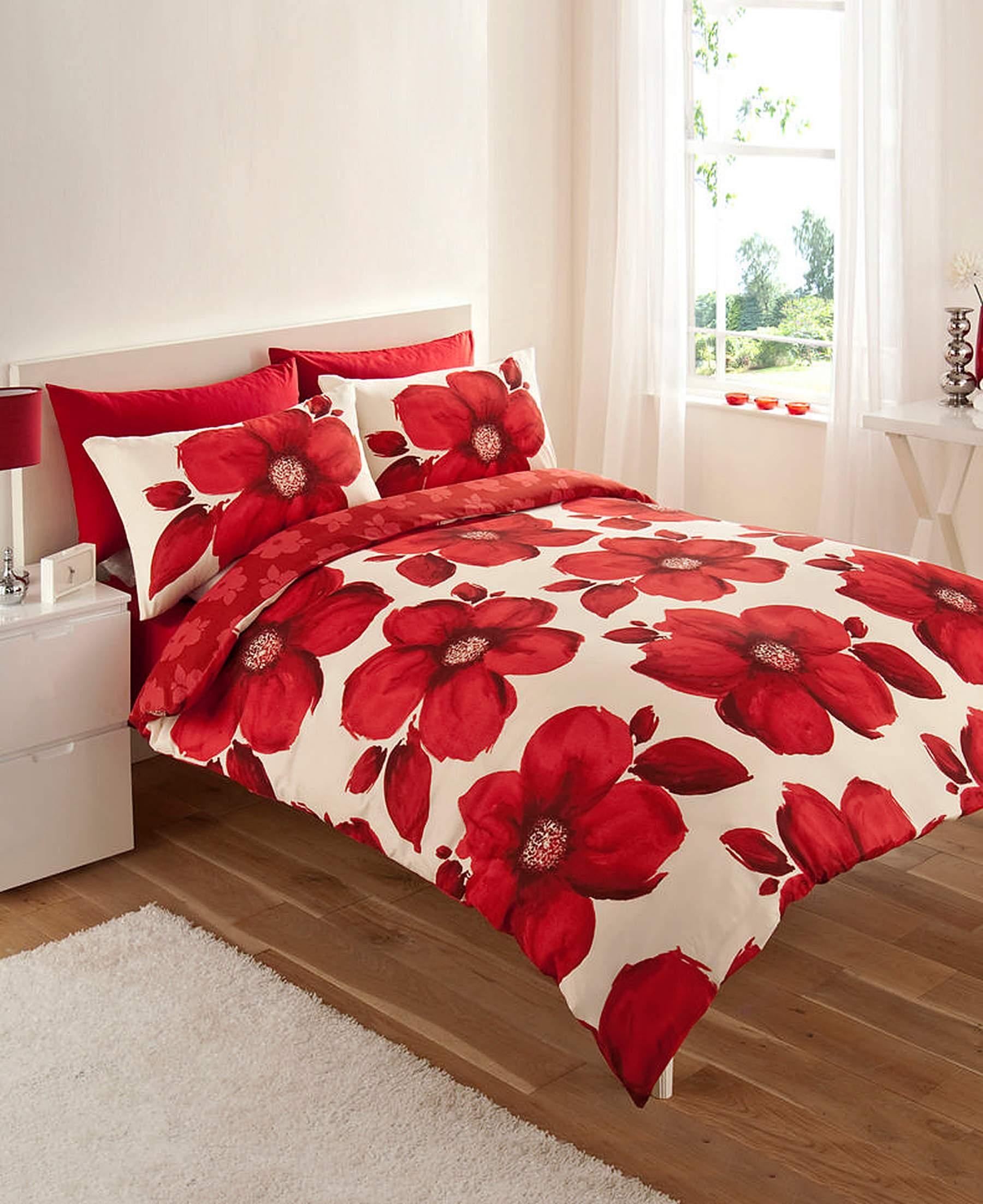 Red Poppy Duvet Cover Sweetgalas
