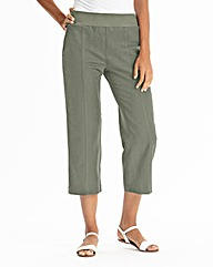 Crop Slouch Linen Mix Trousers Regular