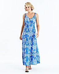 Maxi Dress with Sequins at Neckline