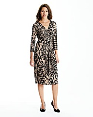 Print Dress Lined L42in