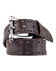 Souled Out Stitch Leather Belt