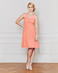 Luxe Lace Prom Skater Dress