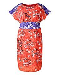Grazia Oriental Print dress