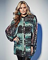 Grazia Printed Kaftan Blouse & Camisole