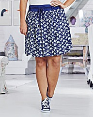 Time Out Ditsy Print Short Skirt