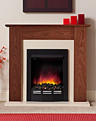Colston Eco 36 Inch Warm Oak Fire