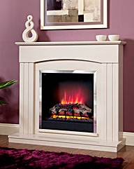 Linmere Timber Electric Fire Suite