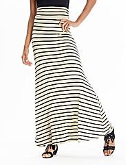 Stripe Jersey Maxi Skirt