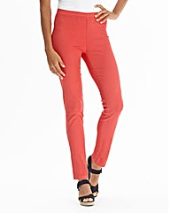 Simply Be Coral Slim Leg Jeggings Long