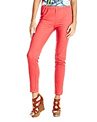 Simply Be Coral Slim Leg Jeggings Short