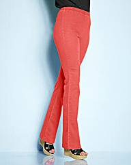 Simply Be Coral Bootcut Jeggings Long