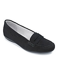 Heavenly Soles Suede Loafers EEE Fit