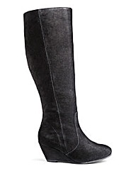 Legroom Wedge Boot Super Curvy Leg E Fit