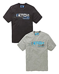 Eto Pack of Two printed T-Shirts