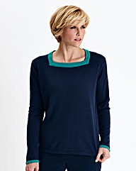 Contrast Trim Detail Sweater