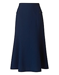 Mock Pocket Skirt With Seam Detail 29in