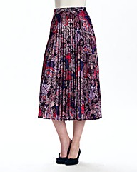 Sunray Printed Pleat Skirt Length 29in