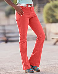 Simply Be Coloured Bootcut Jeans Reg