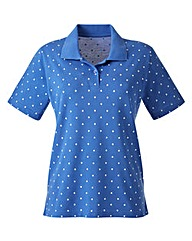 Spot Print Collared Polo Shirt