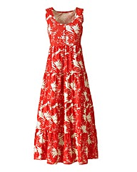 Petite Print Jersey Dress 47in