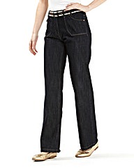 Boyfriend Fit Jean With Belt 27in
