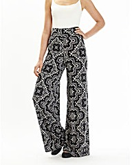 Petite Print Palazzo Trousers 25in