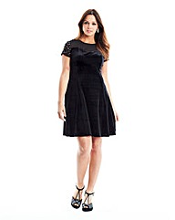 Velour Stud Dress