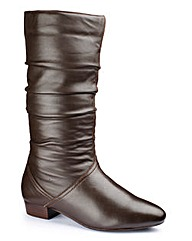 The Shoe Tailor Rouched Mid Boot E Fit