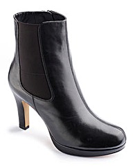Clarks Black Leather Ankle Boots D Fit
