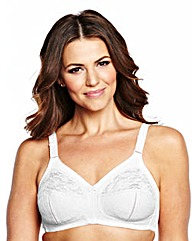 Dotty Lace Full Cup NonWired White Bra