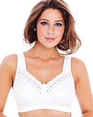 Miss Mary White Firm Support Bra