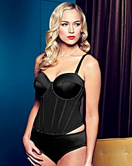 Splendour Black Satin Multiway Basque